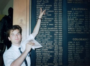 The Reviewer as a 19 year old missionary at the National Cowboy Hall of Fame