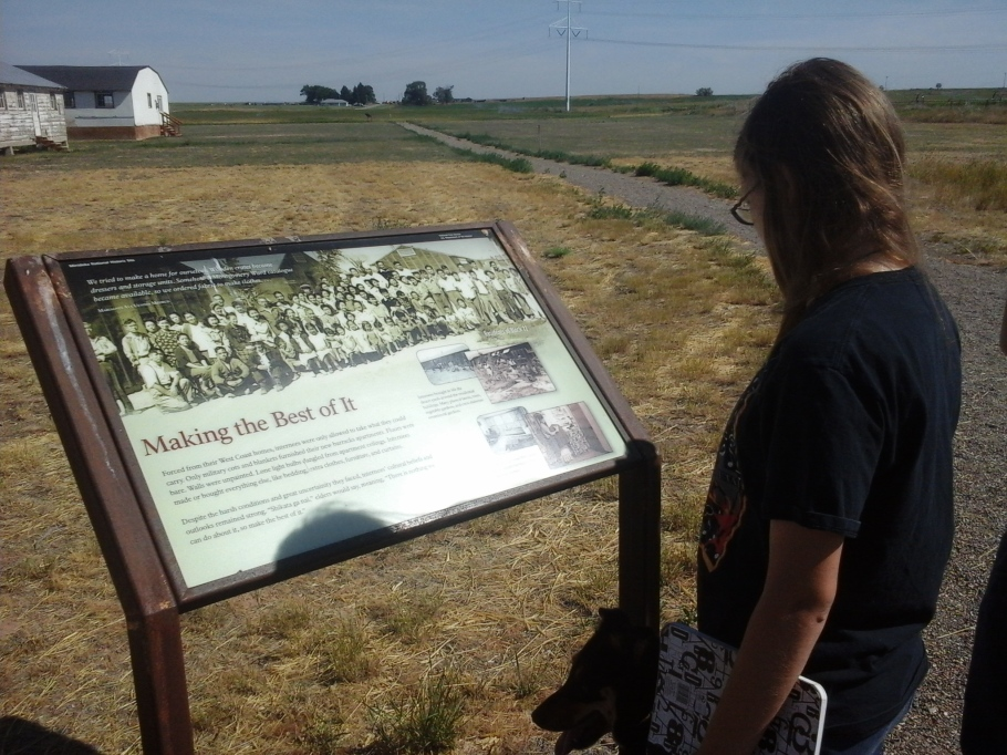 Interpretive sign in residential area