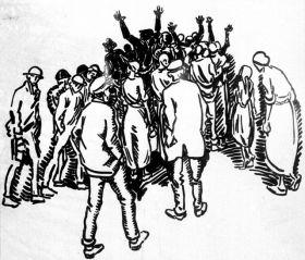 A 1922 drawing by Heinrich Vogeler