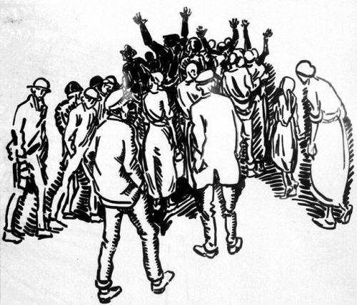 A 1922 drawing by Heinrich Vogeler