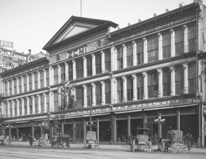 ZCMI, workplace, as it looked in 1910, about the time the real Alice came to Salt Lake City