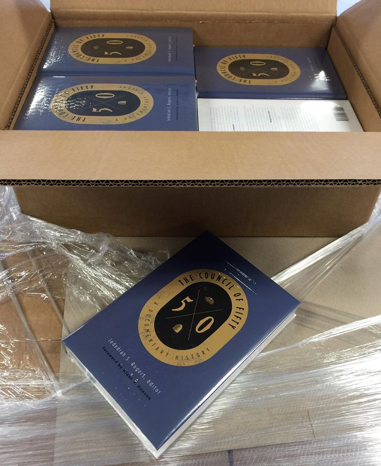 "Fresh off the press copies of ""The Council of Fifty"" - photo courtesy of John P. Hatch and Signature Books"