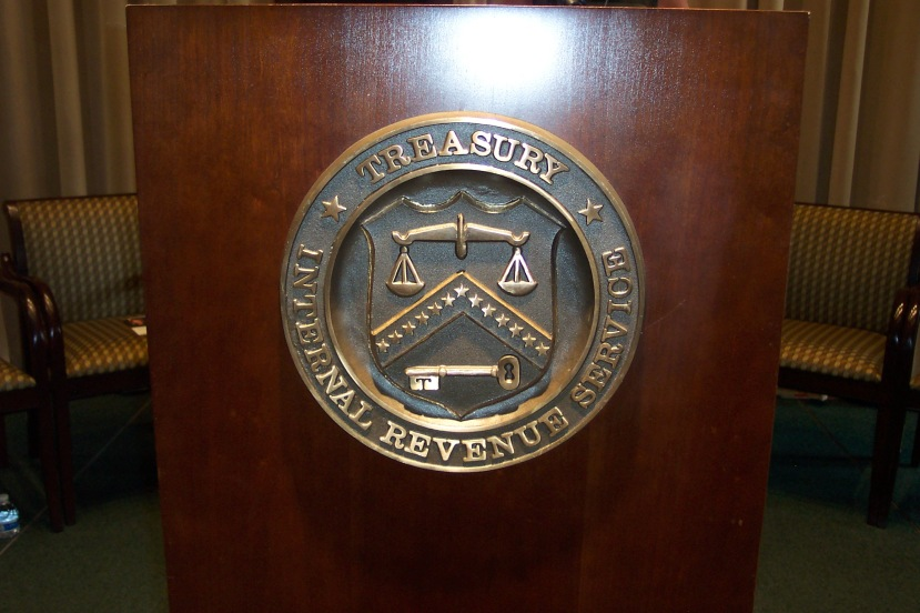 IRS and Department of the Treasury seal. (Photo by Gerald Shields)