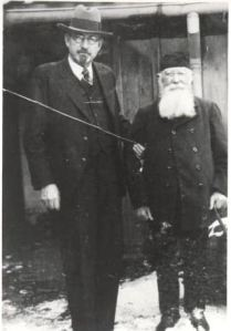 Oliver H. Budge, president of the German-Austrian Mission with Friedrich Schulzke.