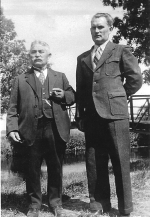 Max Reschke (right) and his father