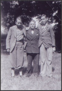 Rudolf Wobbe, Helmuth Hübener, Karl-Heinz Schnibbe about a year before their arrests.  My first thought on seeing this image was - they were so young.