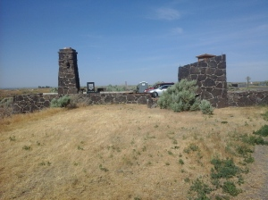 Remains to the Remains of the Entrance of the Minidoka Internment camp