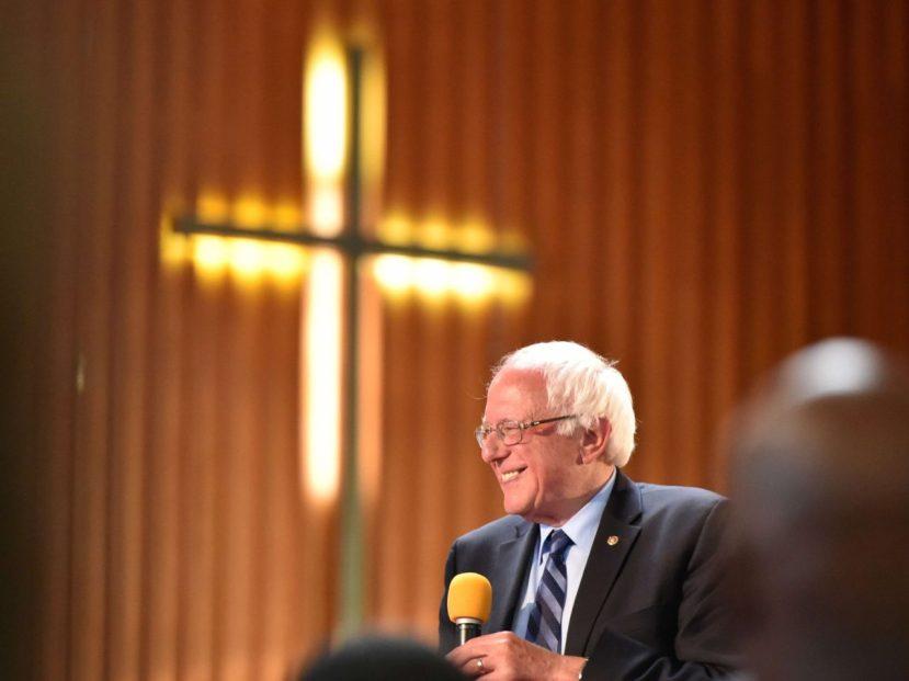 Bernie-Sanders-cross-church-Getty