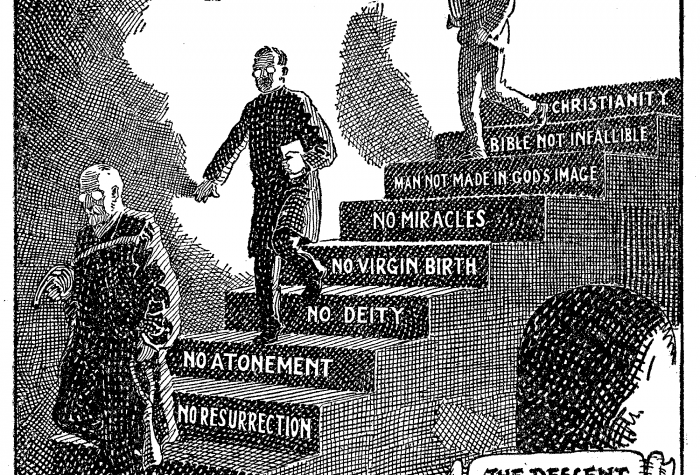 Descent_of_the_Modernists_E._J._Pace_Christian_Cartoons_1922-700x475